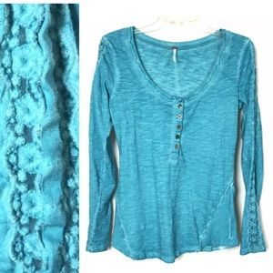 Free people Burnout Lace Top